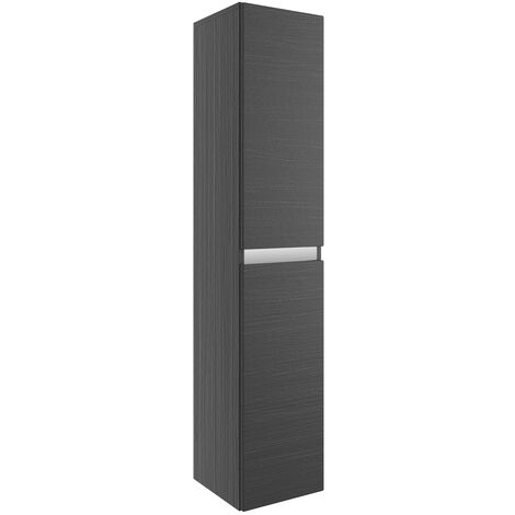 Signature Stockholm Wall Hung 2-Door Tall Unit 300mm Wide - Graphitewood
