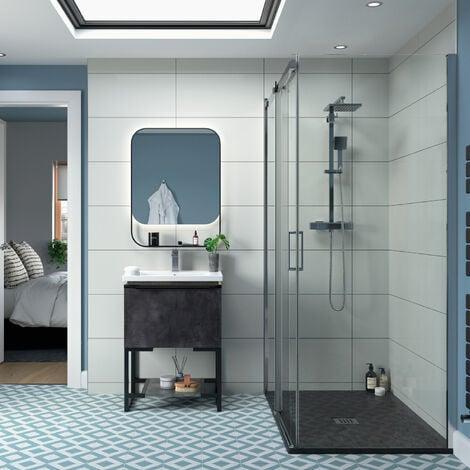 Signature Backlit LED Curved Frame Bathroom Mirror 800mm H x 600mm W