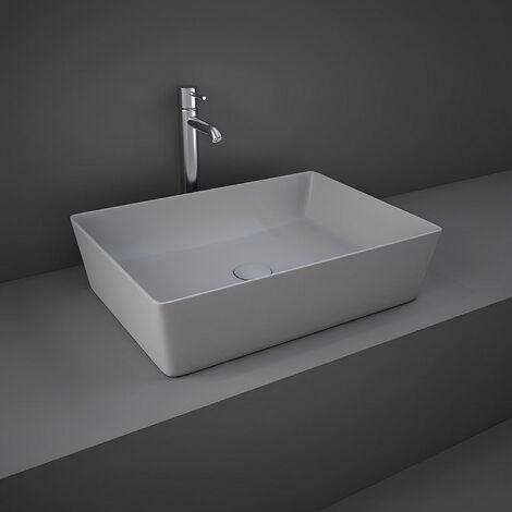 RAK Feeling Rectangular Countertop Wash Basin 500mm Wide - Matt Grey