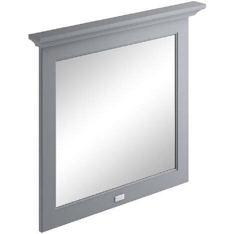 Bayswater Flat Bathroom Mirror 800mm Wide - Plummett Grey