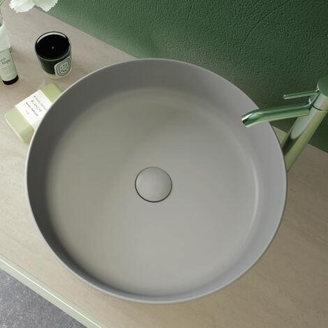 RAK Feeling Round Countertop Wash Basin 420mm Wide - Matt Grey
