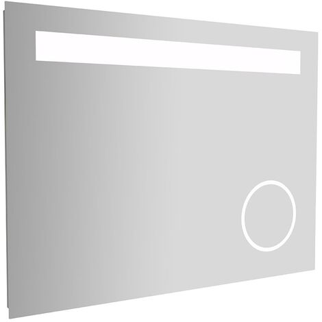 Cali LED Bathroom Mirror 800mm W x 600mm H with Magnifying Mirror and Infrared Sensor