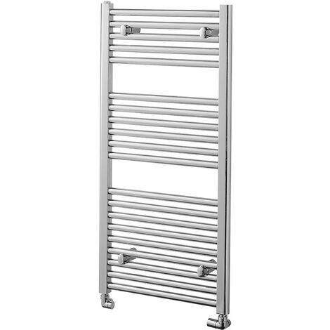 Heatwave Pisa Straight Heated Towel Rail - 1000mm H x 500mm W - Chrome