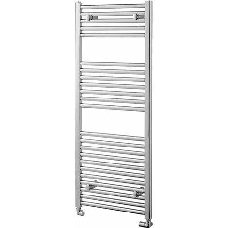 Heatwave Pisa Straight Heated Towel Rail - 1200mm H x 500mm W - Chrome