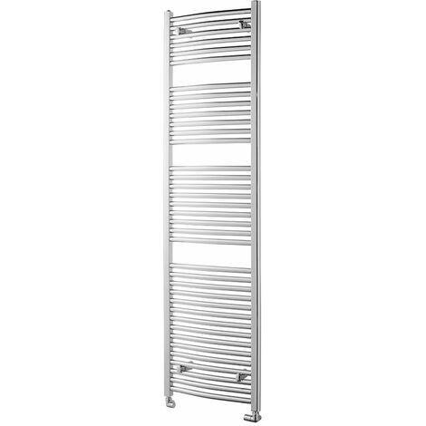 Heatwave Pisa Curved Heated Towel Rail - 1800mm H x 500mm W - Chrome