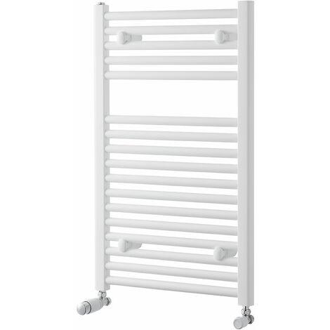 Heatwave Pisa Straight Heated Towel Rail - 800mm H x 500mm W - White
