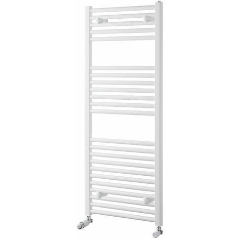 Heatwave Pisa Straight Heated Towel Rail - 1200mm H x 500mm W - White