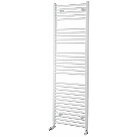 Heatwave Pisa Straight Heated Towel Rail - 1500mm H x 500mm W - White