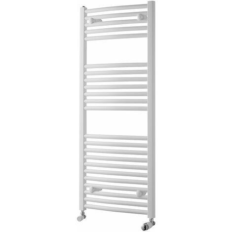 Heatwave Pisa Curved Heated Towel Rail - 1200mm H x 500mm W - White