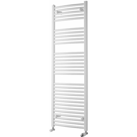 Heatwave Pisa Curved Heated Towel Rail - 1500mm H x 500mm W - White