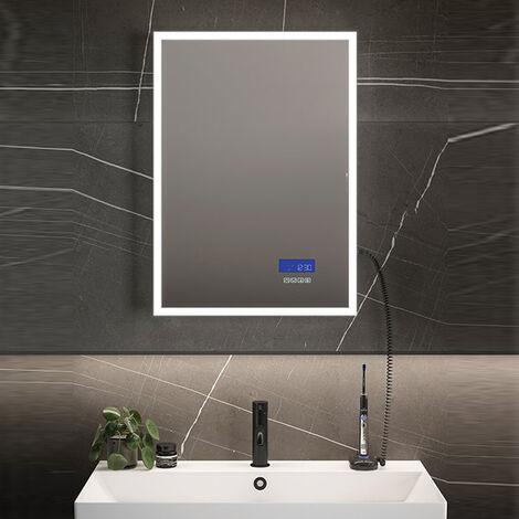 HiB Globe Plus 60 LED Bathroom Mirror 800mm H x 600mm W