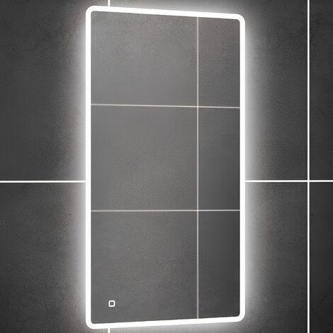 HiB Vega 40 LED Bathroom Mirror 800mm H x 400mm W