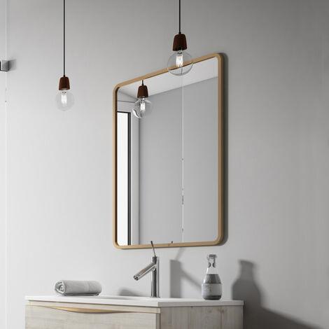 Verona Vogue Bathroom Mirror 800mm H x 600mm W - Copper