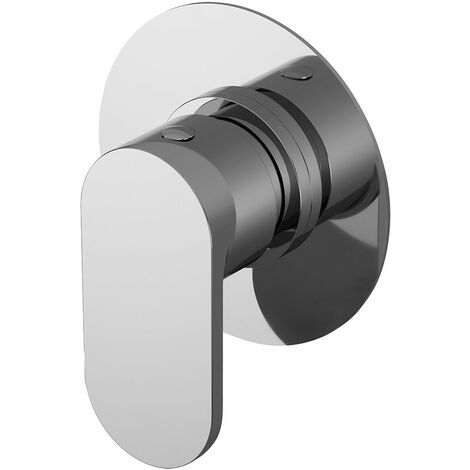 Nuie Binsey Round Concealed Stop Tap Shower Valve - Chrome