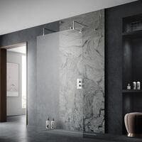 Hudson Reed Wetroom Screen 1000mm Wide with Arms and Feet - 8mm Glass