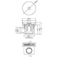 Nuie Fast Flow Shower Waste Chrome - Chrome/White