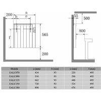 Reina Arlec Electric Panel Radiator, 565mm High x 642mm Wide, 1250 Watts