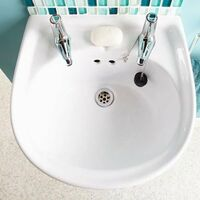 AKW Semi Pedestal 450mm Wide Disabled Basin - 2 Tap Hole
