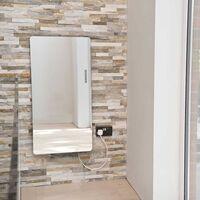 Heatwave Vetro Frame Glass Electric Radiator 1000mm H x 500mm W - Mirror