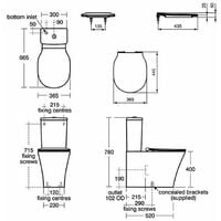Ideal Standard Concept Air Close Coupled Back to Wall Toilet with Cistern - Soft Close Seat