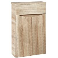 Orbit Contour Back to Wall WC Unit 500mm Wide - Driftwood