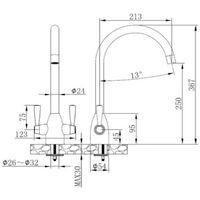 Sagittarius Forme Monobloc Kitchen Sink Mixer Tap - Black