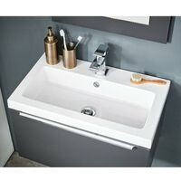 Orbit Muro Complete Bathroom Furniture Suite with Double Ended 1800mm x 800mm Bath
