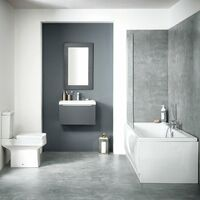 Orbit Muro Complete Bathroom Furniture Suite with Double Ended 1700mm x 750mm Bath