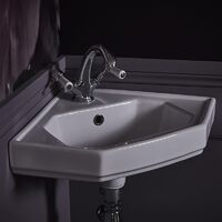 Bayswater Lever Hex Mono Basin Mixer Tap with Waste - White/Chrome