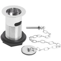 Nuie Basin Waste with Brass Plug and Link Chain Chrome - Slotted
