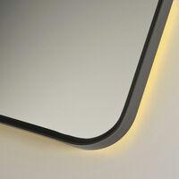 Signature Backlit LED Angled Frame Bathroom Mirror 800mm H x 1200mm W