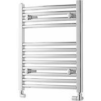 Heatwave Pisa Straight Heated Towel Rail - 600mm H x 500mm W - Chrome