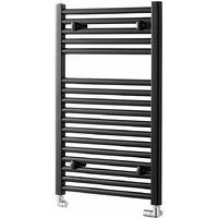 Heatwave Pisa Straight Heated Towel Rail - 800mm H x 500mm W - Black