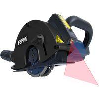 FERM Rozadora 1700W - 125mm - Láser - Incl. 2 hojas diamantadas y adaptador de la aspiradora