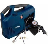 FERM Compresor portátil 1100W - 230V - Set de 8 piezas