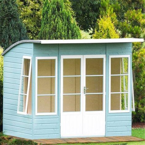 10 x 6 (2.99m x 1.79m) - Premier Pent Wooden Summerhouse - 4 Windows - Double Doors - 12mm T&G Walls & Floor