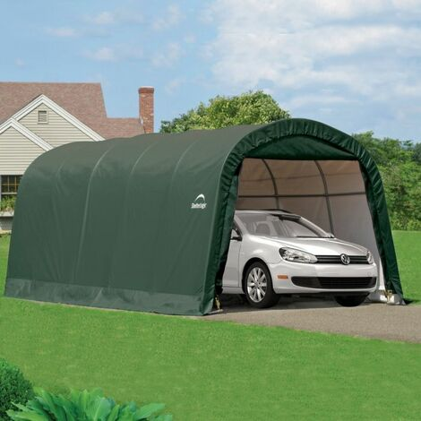10 x 20 Round Top Auto Shelter