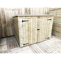 6 x 3 Pressure Treated Tongue And Groove Bike Store With Double Doors