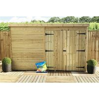 10 x 7 Windowless Pressure Treated Tongue And Groove Pent Shed With Double Doors
