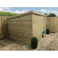 10 x 4 Windowless Pressure Treated Tongue And Groove Pent Shed With Single Door