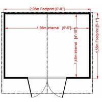 Old - 7 x 5 (1.98m x 1.61m) - Premier Pressure Treated Wooden Summerhouse - 12mm T&G Walls & Floor