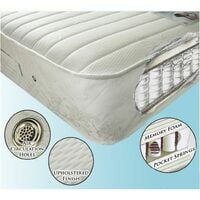 Pocket Sprung and Memory Foam Mattress - Small Double 4ft
