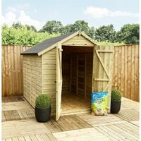 3 x 5 **Flash Reduction** Super Saver Pressure Treated Tongue And Groove Double Doors Apex Shed (Low Eaves) + 1 Window