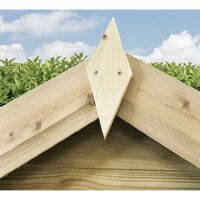 6 x 5 **Flash Reduction** Super Saver Windowless Pressure Treated Tongue & Groove Apex Shed + Double Doors + Low Eaves
