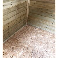 """3 x 5 **Flash Reduction** REVERSE Windowless Super Saver Pressure Treated Tongue And Groove Single Door Apex Shed (High Eaves 74"""")"""