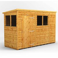 10 x 4 Premium Tongue and Groove Pent Shed - Single Door - 4 Windows - 12mm Tongue and Groove Floor and Roof