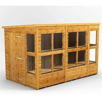 10 x 6 Premium Tongue and Groove Pent Shed - Single Door - 14 Windows - 12mm Tongue and Groove Floor and Roof