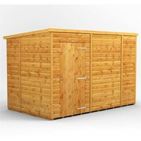10 x 6 Premium Tongue and Groove Pent Shed - Single Door - Windowless - 12mm Tongue and Groove Floor and Roof