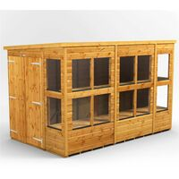10 x 6 Premium Tongue and Groove Pent Potting Shed - Double Doors - 14 Windows - 12mm Tongue and Groove Floor and Roof