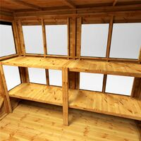 6 x 6 Premium Tongue and Groove Pent Potting Shed - Double Doors - 10 Windows - 12mm Tongue and Groove Floor and Roof